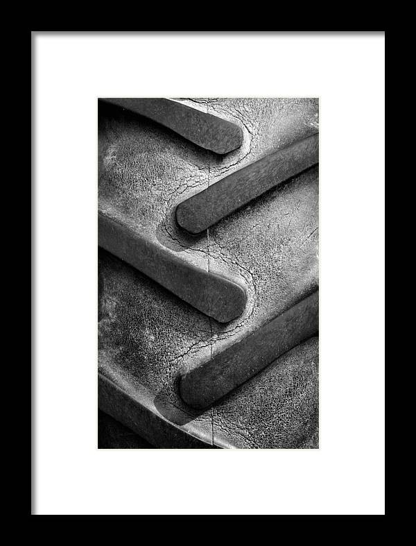 Tractor Framed Print featuring the photograph Tractor Tread by Luke Moore