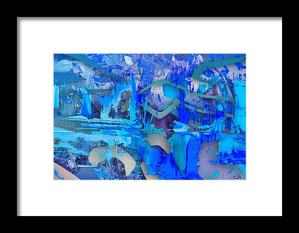 Blue Framed Print featuring the digital art Trades by Eric J Amsellem