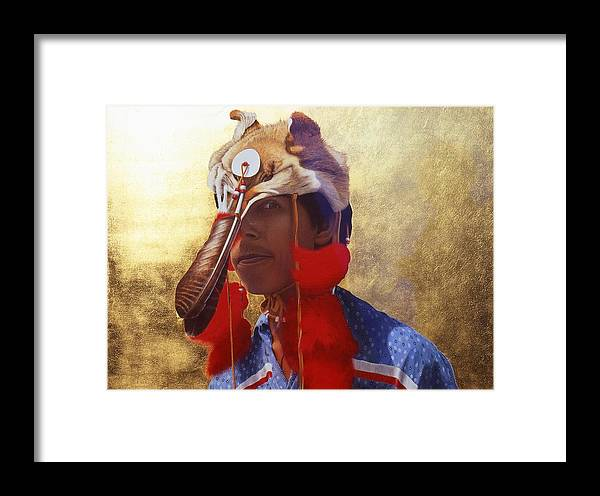 Indian Framed Print featuring the painting Tradition by Conrad Mieschke