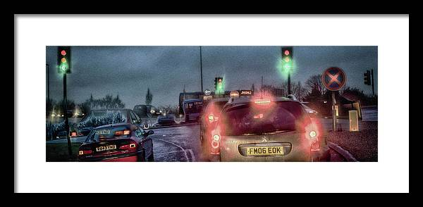 Traffic Framed Print featuring the photograph Traffic by KonTrasts