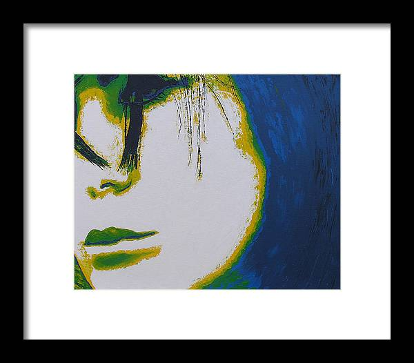 Portrait Framed Print featuring the painting Tragedy by Ricklene Wren