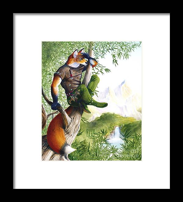 Fantasy Framed Print featuring the painting Trail Blazing Fox by Melissa A Benson