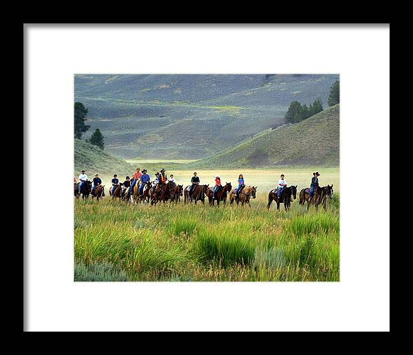 Trail Ride Framed Print featuring the photograph Trail Ride by Marty Koch