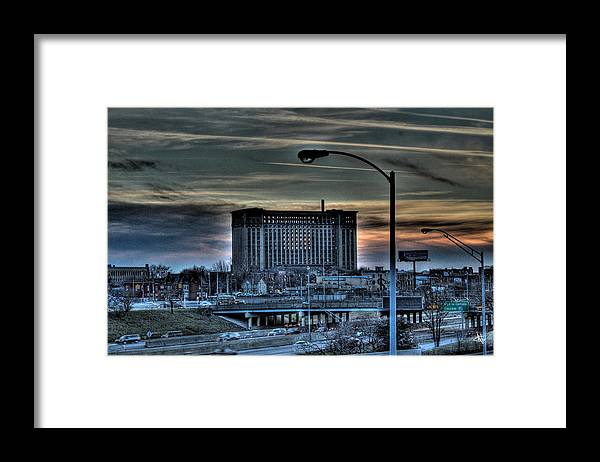 Framed Print featuring the photograph Train Station Detroit MI by Nicholas Grunas