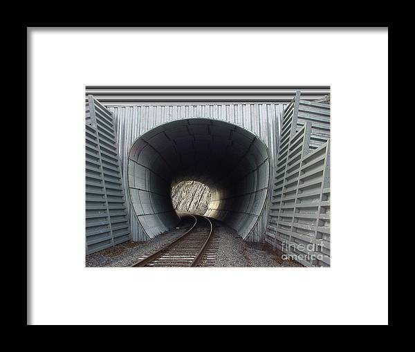 Digital Framed Print featuring the photograph Train Track by Ron Bissett