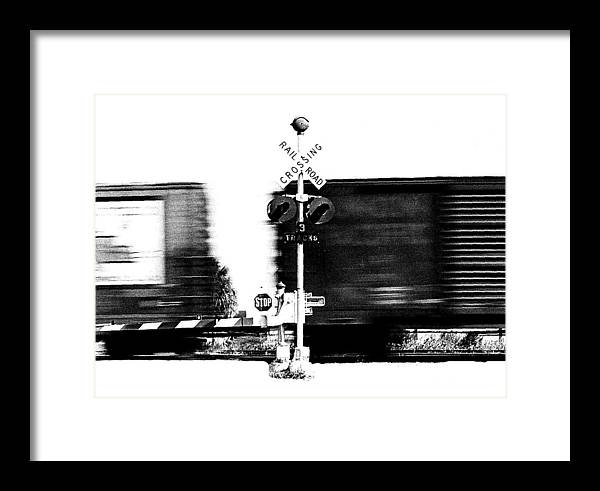 Train Tryptic Framed Print featuring the photograph Train Tryptic B Of C by Richard Gerken