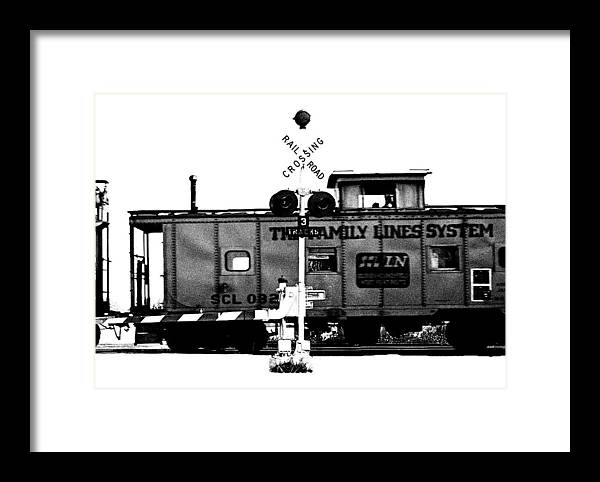 Black And White Framed Print featuring the photograph Train Tryptic C Of C by Richard Gerken