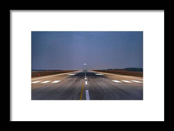 Plane Framed Print featuring the photograph Trajectory by Anupam Gupta