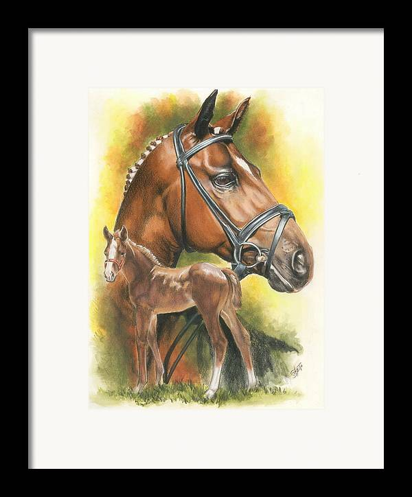 Jumper Hunter Framed Print featuring the mixed media Trakehner by Barbara Keith