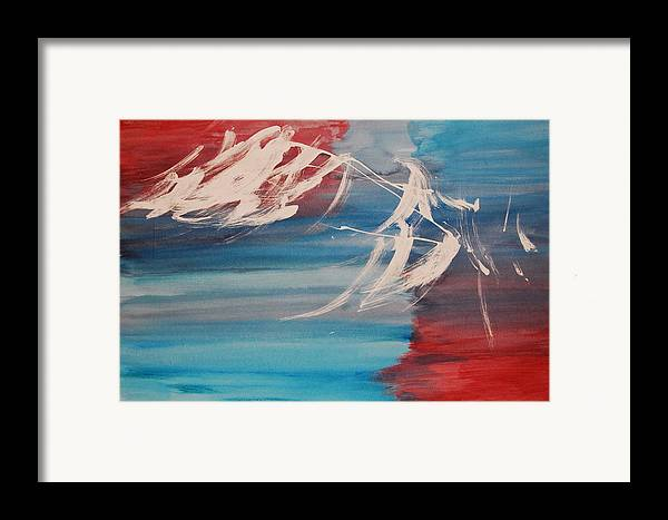 Tranquility Framed Print featuring the painting Tranquilidad 2 by Lauren Luna