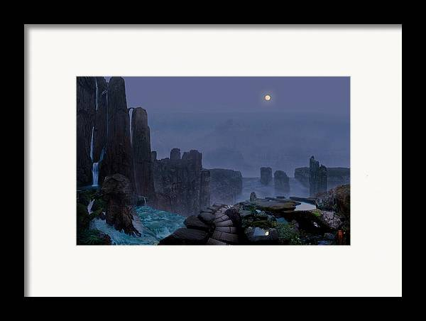 Tranquility Framed Print featuring the digital art Tranquility 6 by Valeriy Mavlo