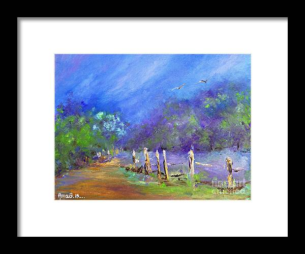 Tranquility Framed Print featuring the painting Tranquility by Amalia Suruceanu