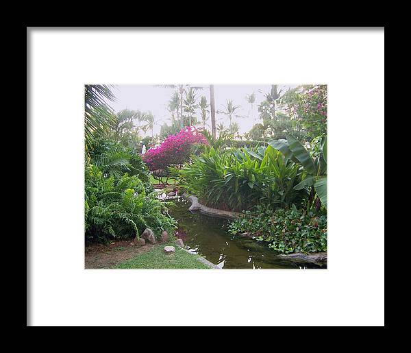 Photo Framed Print featuring the pyrography Tranquility by George Pasini