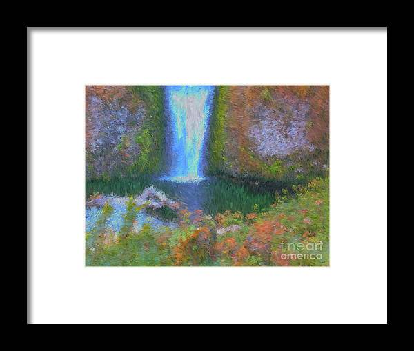 Tranquility Framed Print featuring the painting Tranquility by Methune Hively