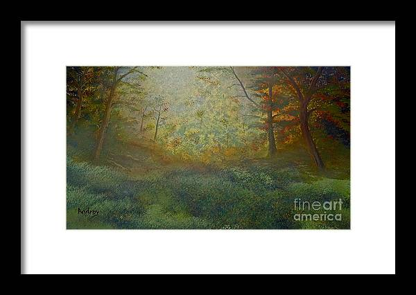 Trees Framed Print featuring the painting Tranquility by Todd Androy