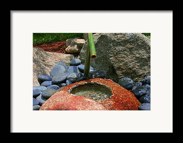 Japanese Garden Framed Print featuring the photograph Tranquility1 by Charles Warren