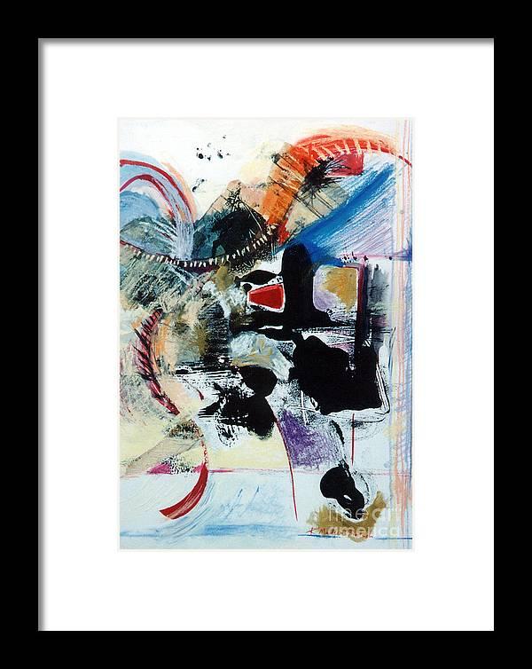 Transcendance Framed Print featuring the drawing Transcendance by Kerryn Madsen-Pietsch