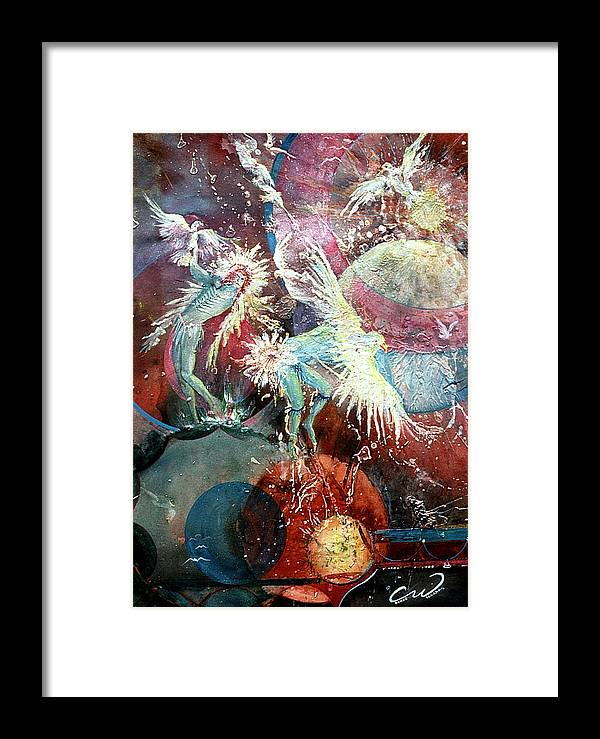 Spirits Framed Print featuring the painting Transcending Indian Spirits by Connie Williams