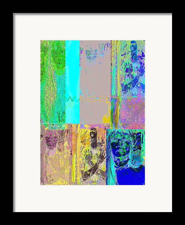 Story Framed Print featuring the painting Transfiguration by Noredin Morgan