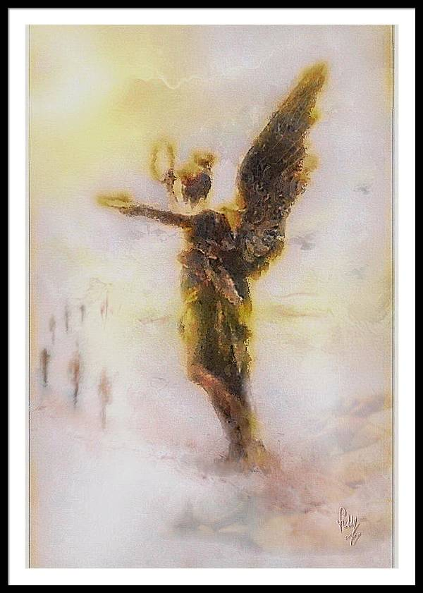 Angel Framed Print featuring the painting Transients by Freddy Kirsheh