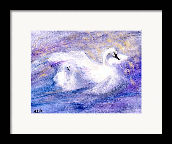 Birds Framed Print featuring the painting Transformation by Gail Kirtz
