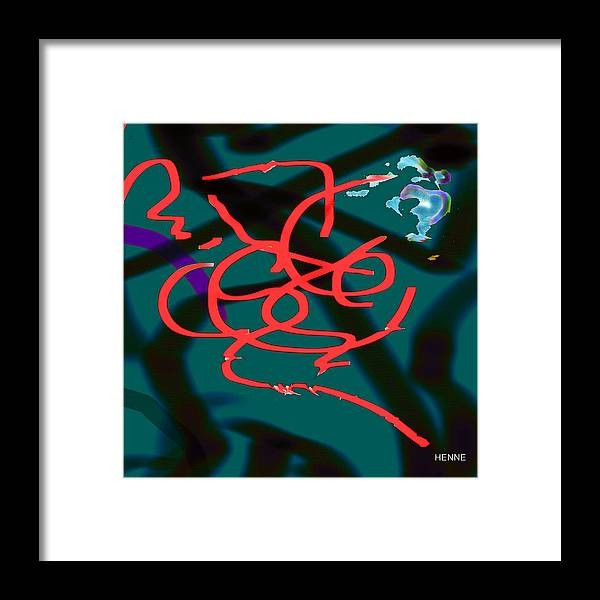 Digital Framed Print featuring the painting Transformation by Robert Henne