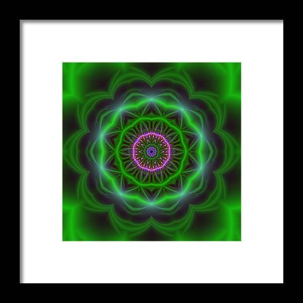 Mandala Framed Print featuring the digital art Transition Flower 10 Beats by Robert Thalmeier