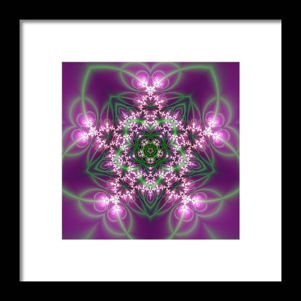 Mandala Framed Print featuring the digital art Transition Flower 5 Beats by Robert Thalmeier