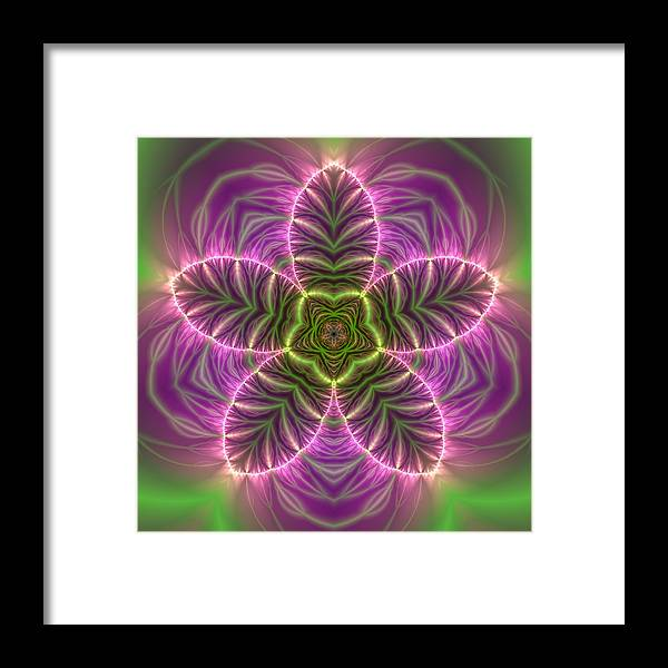 Mandala Framed Print featuring the digital art Transition Flower by Robert Thalmeier