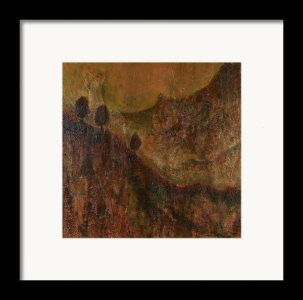 Original Acrylic Mixed Media Abstract Framed Print featuring the painting Transition by Sharon Steinhaus