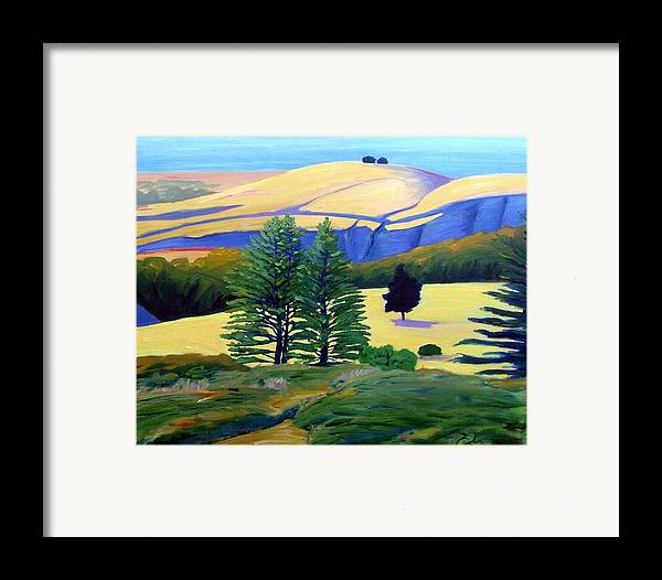 Landscape Framed Print featuring the painting Transitions by Gary Coleman