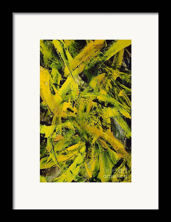 Abstract Framed Print featuring the painting Transitions Vi by Dean Triolo