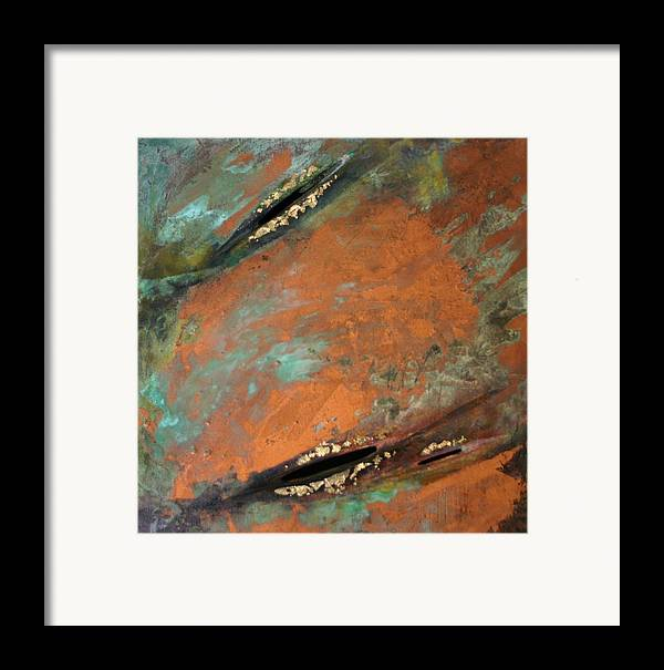 Landscape Framed Print featuring the painting Transitory Marks II by Dodd Holsapple