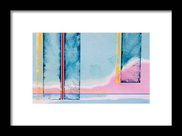 Landscape Framed Print featuring the painting Transitory Veils by Lyle Crump