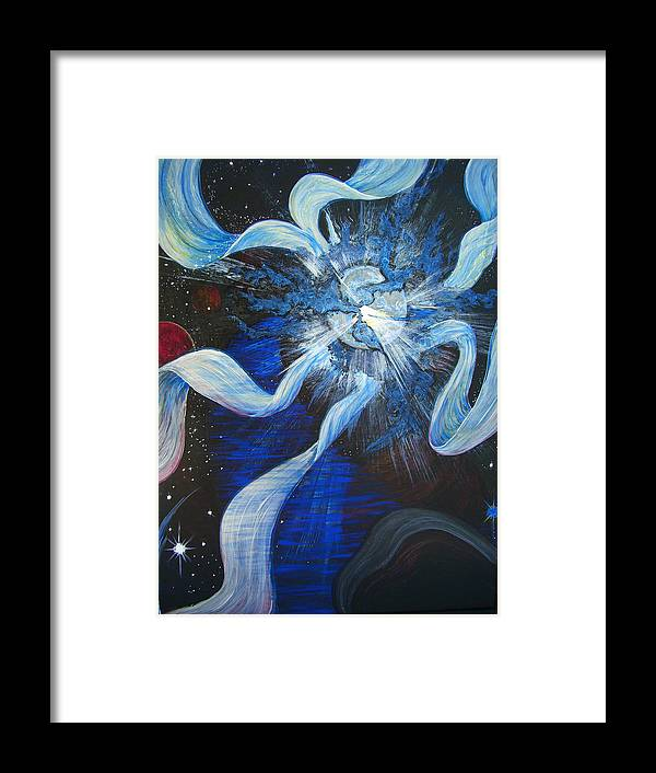 Meditation Framed Print featuring the painting Translation by Pam Ellis