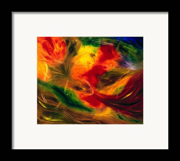 Abstract Framed Print featuring the painting Transparence De La Vie by Dominique Boutaud