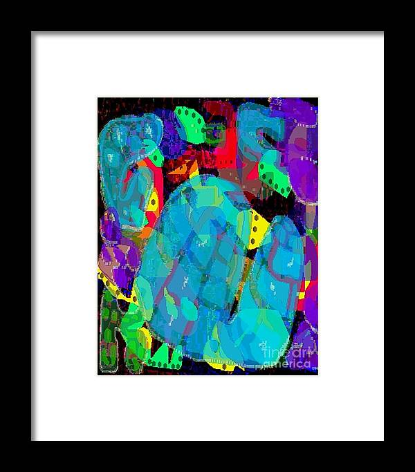 Digital Framed Print featuring the digital art Transparencies by Ron Bissett