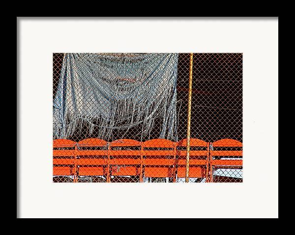 Baseball Field Framed Print featuring the photograph Traveler Field Forgotten by Kenna Westerman