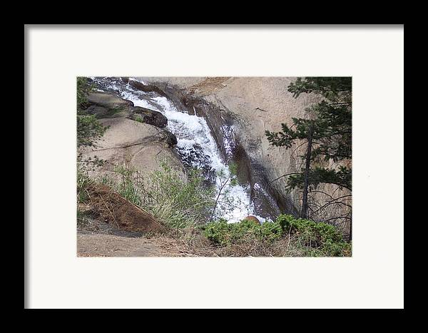 Landscape Framed Print featuring the photograph Traveling Down This Rock by Sarah Bauer