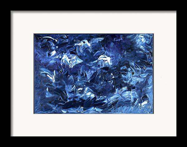 Abstract Framed Print featuring the painting Traversee by Dominique Boutaud