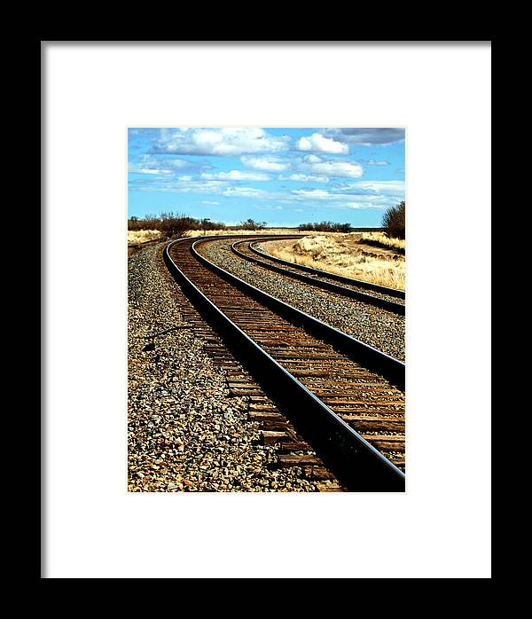 Framed Print featuring the photograph Trax by Darcy Dietrich