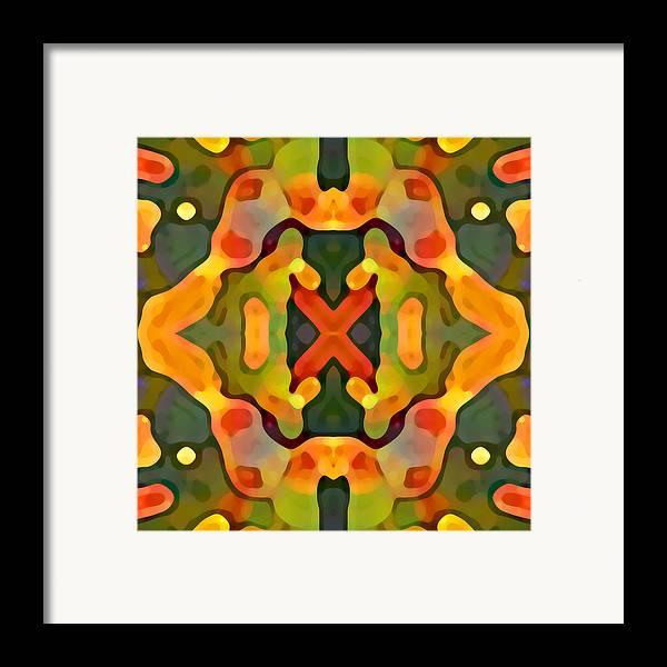 Abstract Framed Print featuring the painting Treasure by Amy Vangsgard