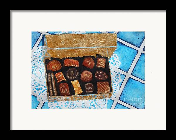 Candy Framed Print featuring the painting Treasure Chest by Gail Zavala