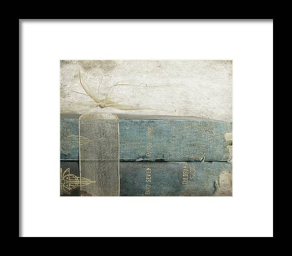 Old Books Framed Print featuring the photograph Treasured Tales by Angie Mahoney