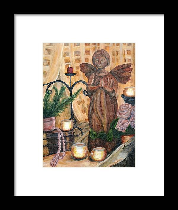 Treasures Framed Print featuring the painting Treasures by Sandra Winiasz