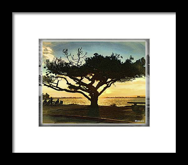 Tree Framed Print featuring the digital art Tree At Vacation Island by Monzo Rock