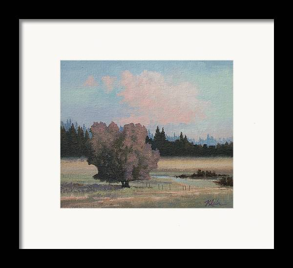Landscape Framed Print featuring the painting Tree by Dalas Klein