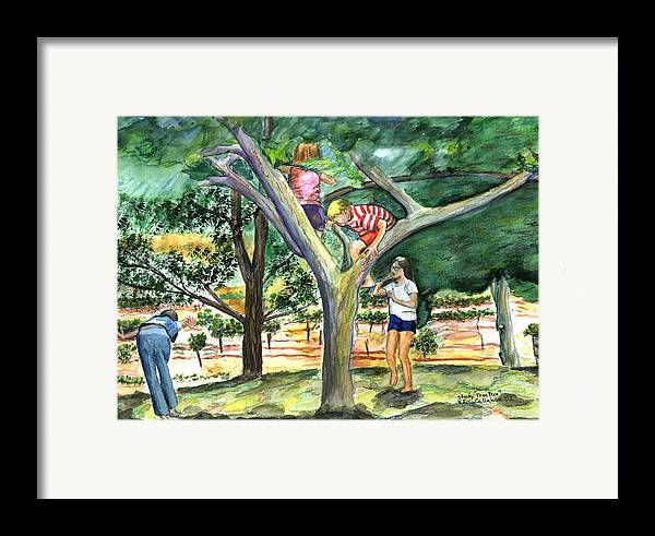 Kevin Callahan Framed Print featuring the painting Tree Fun Study by Kevin Callahan