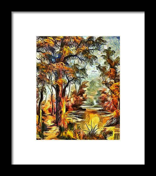 Art Framed Print featuring the digital art Tree Impression by Nenad Vasic