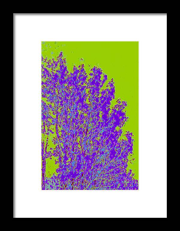 Framed Print featuring the digital art Tree Leaves D4 by Modified Image